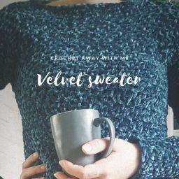 Nieuw patroon: velvet sweater